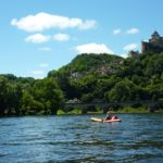 Arriving back by canoe to the magnificent sight of the castle of Castelnaud