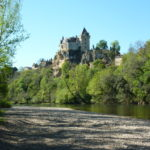 The castle of Montfort up river from Castelnaud as seen when canoeing